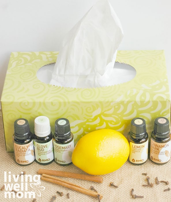 Essential oils to use in a diy foaming hand soap including lemon and cinnamon.