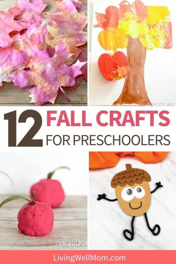collage of crafts for preschoolers using playdough, paint, and other media