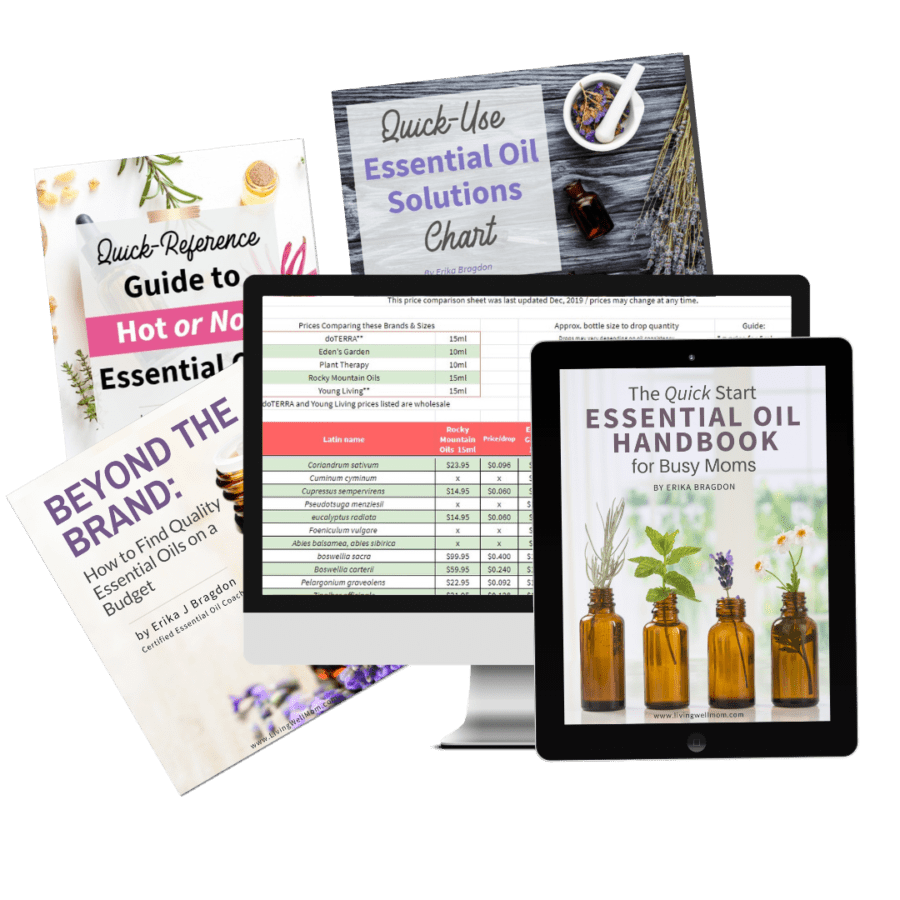 Digital mock of the Living Well Essential Oil Product Bundle