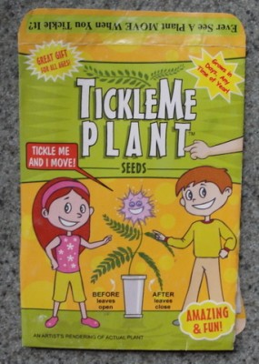 packet of tickle me plant seeds