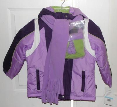 Rothschild Kids' girls purple winter coat on hanger