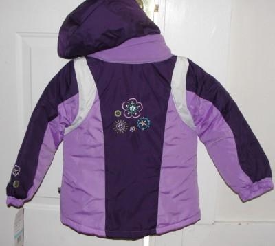 Rothschild Kids' girls purple winter coat sleeve