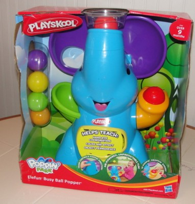 This Lively Playskool Toy Brings Fun Music Balls And An Air Powered Poppin Game It S Simple Baby Can Take The Drop Them In Elephant Ears