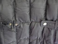 cinch of  black winter coat