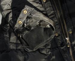 sleeve of black winter coat