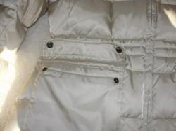 outside pockets of white winter coat