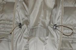 inside pockets of white winter coat
