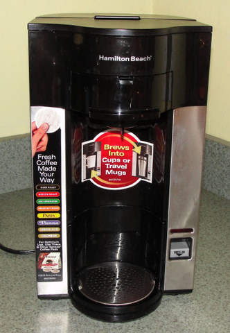 To Brew Coffee With This Hamilton Beach Stay Or Go Coffeemaker You Just Pour The Exact Amount Of Water Want Into Back Machine