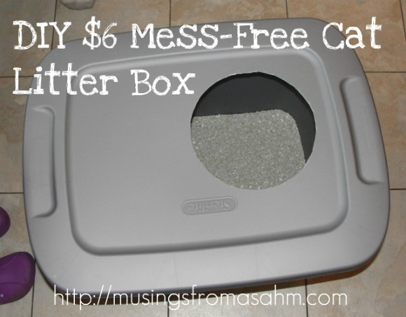 Do It Yourself Cheap MessFree Cat Litter Box Living Well Mom