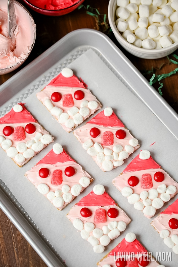 With No Baking Or Cooking Required Santa Graham Cookies Are A Perfect Easy Christmas Cookie
