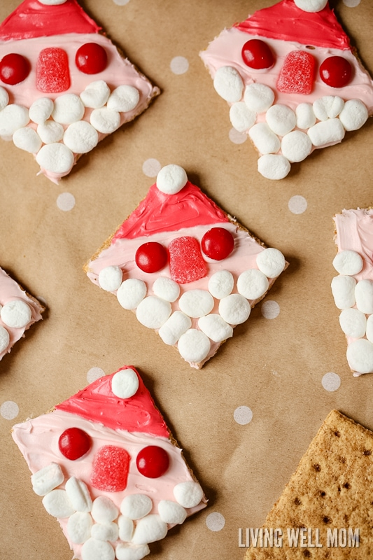 With No Baking Involved Santa Graham Cookies Are A Perfect Easy Christmas Cookie Recipe For