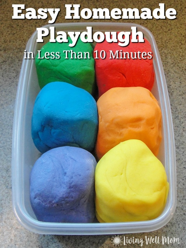 Need an activity for kids that will keep them busy for hours? Here's the step by step instructions for how to make the best homemade playdough in less than 10 minutes! Plus it's cheaper, and longer-lasting than store bought stuff!