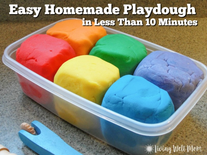 Easy homemade playdough recipe in less than 10 minutes for Cheap home stuff
