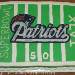 My First Fondant Cake: SuperBowl Patriots