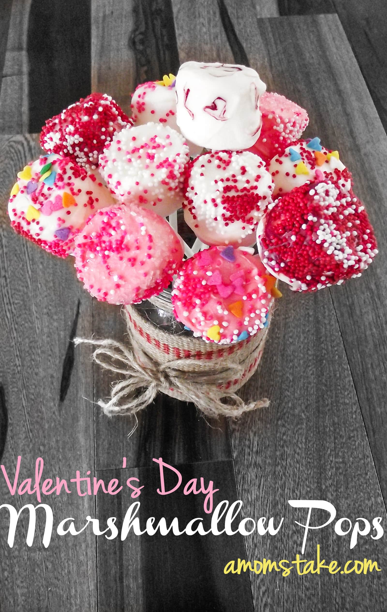 Valentine's Day Marshmallow Bouquet