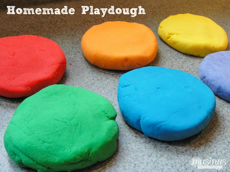 The best easy homemade playdough recipe on the web; it takes less than 10 minutes to make, plus it's non toxic, cheaper, and longer-lasting than store bought stuff!