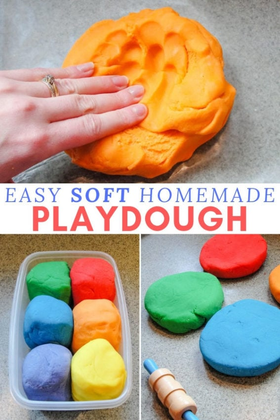 easy soft homemade playdough recipe