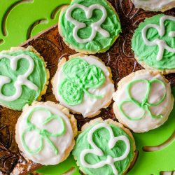 St Patrick's Day Frosted Butter Cookies