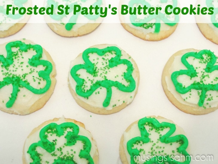 Frosted St Patty's Day Butter Cookies