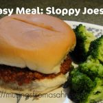 Easy Dinner: Sloppy Joes Recipe