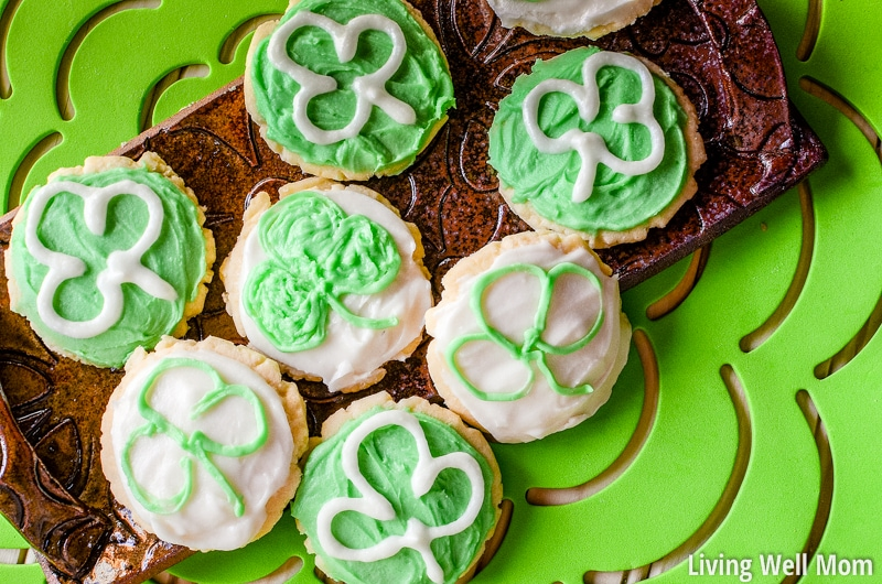 If you want a special treat for St Patrick's Day, try these divinely tasty Frosted Butter Cookies. These soft cookies will melt in your mouth and the amazing buttercream frosting is out of this world good!