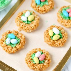 "Easter Rice Krispie Treats Peanut Butter ""Nests"""