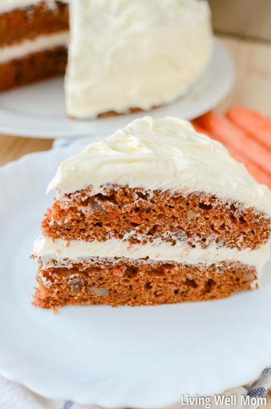 Delectable Layered Carrot Cake With Orange Cream Cheese