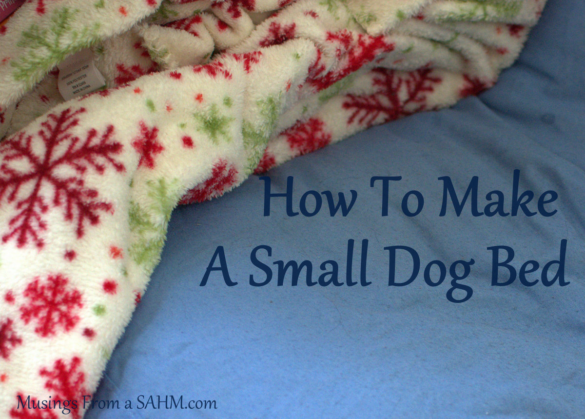 how to make a small dog bed