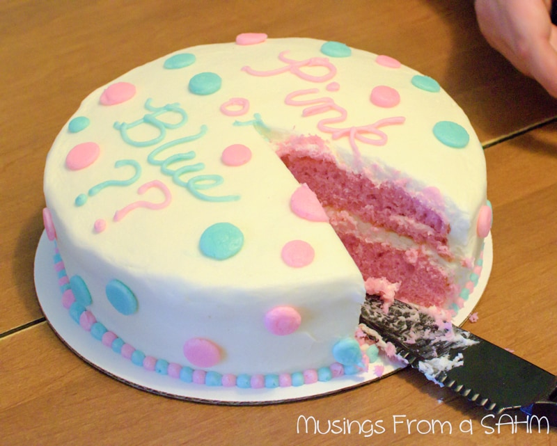 What's a Baby Gender Reveal Cake? - Living Well Mom