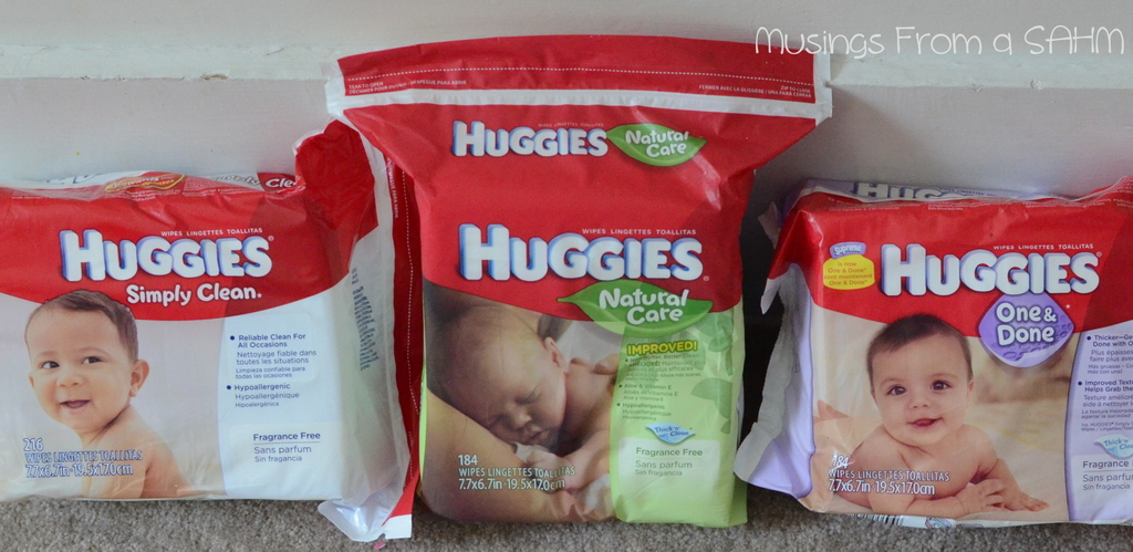 packages of Huggies wipes