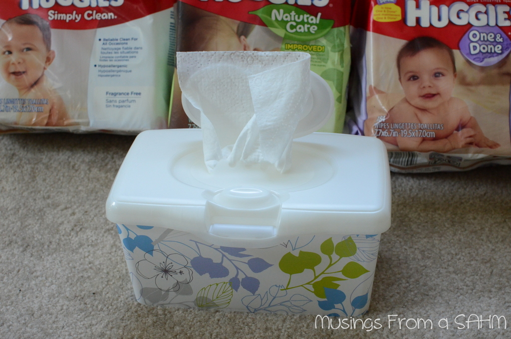 huggies wipes in container