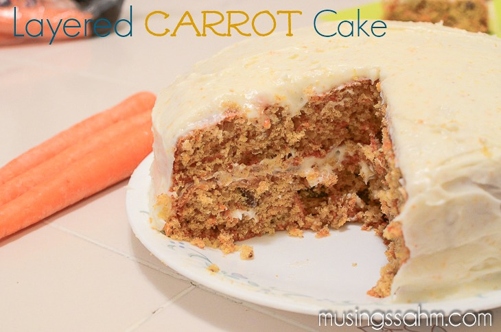Delectable layered carrot cake musings from a stay at home mom