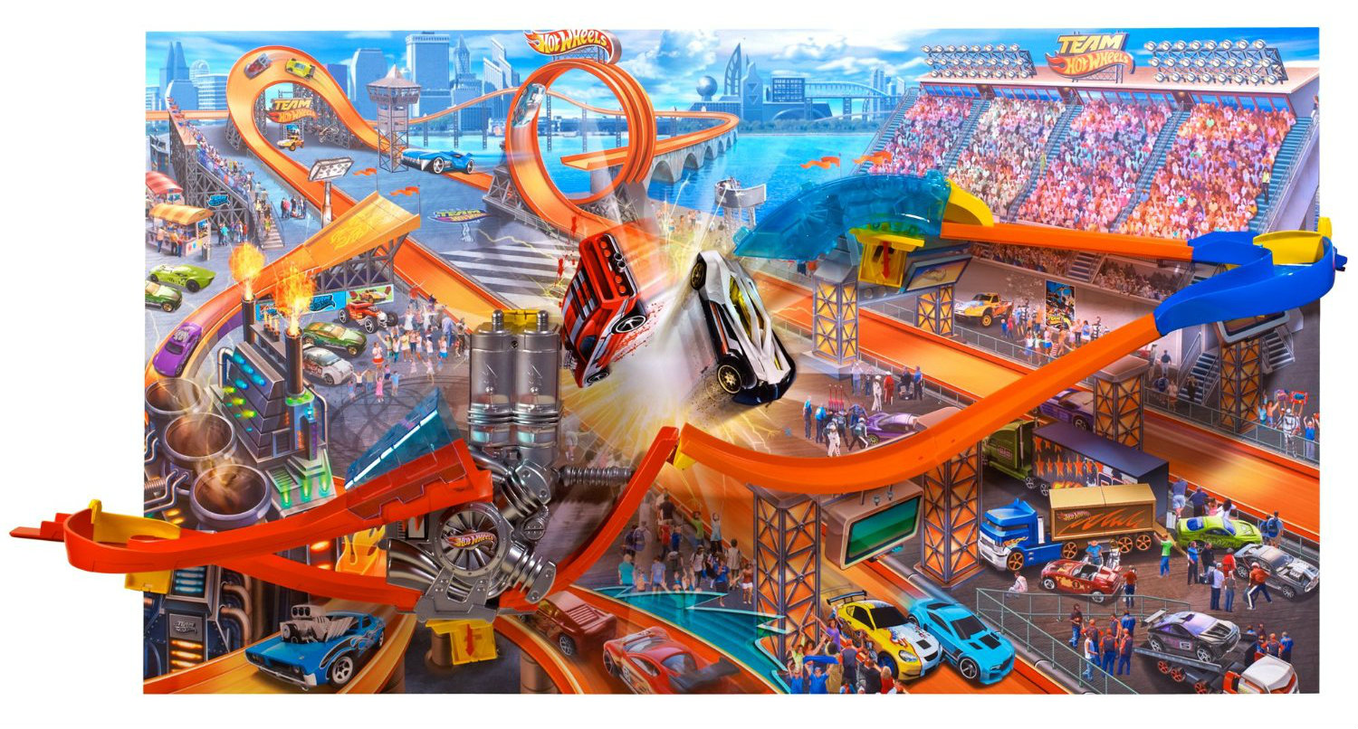 Hot Wheels Wall Tracks Mid-Air Madness Giveaway - Living -9823