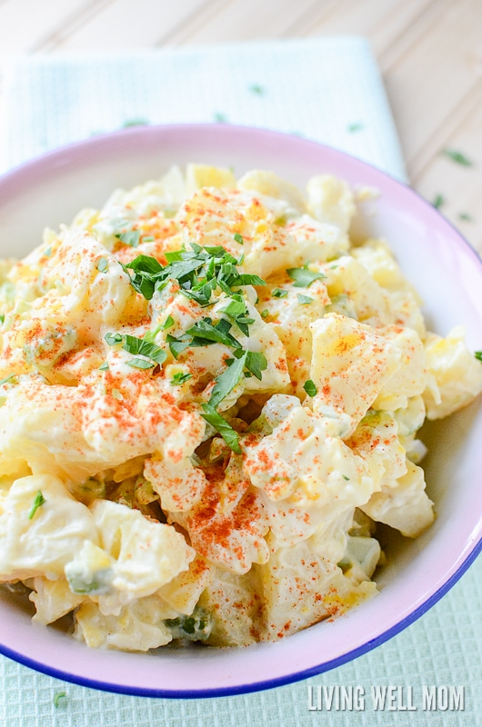 This Easy Potato Salad is based on an old Amish recipe and it's so delicious, you'll only wish you found it sooner! Perfect for summer cookouts, barbecues, and parties, this simple recipe is kid-approved too!