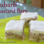 Rhubarb Custard Bars {Recipe}