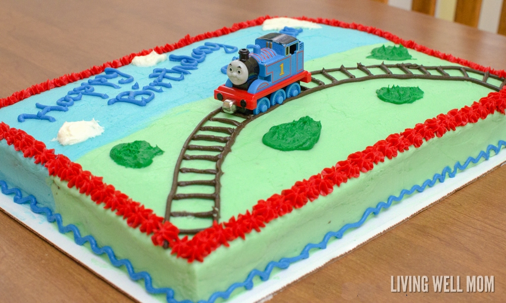 Design Your Own Sheet Cake : Thomas the Tank Engine Birthday Cake - Living Well Mom