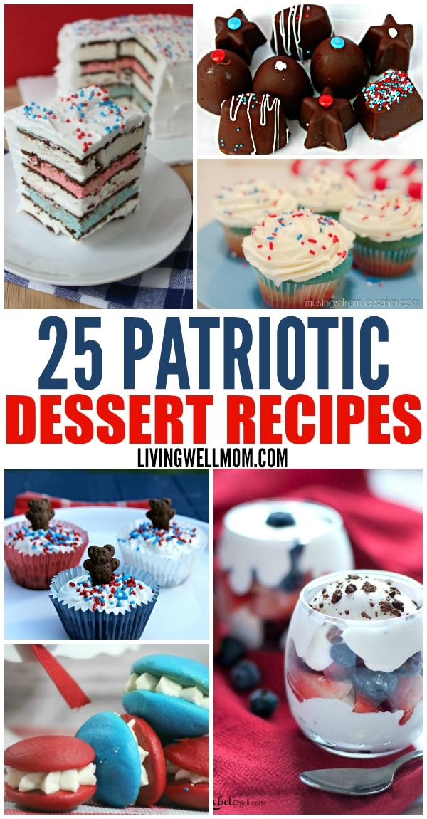 collection of patriotic dessert photos