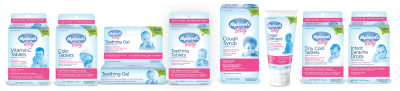hyland's baby products line up