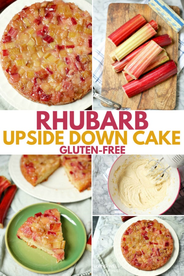 gluten-free rhubarb upside down cake
