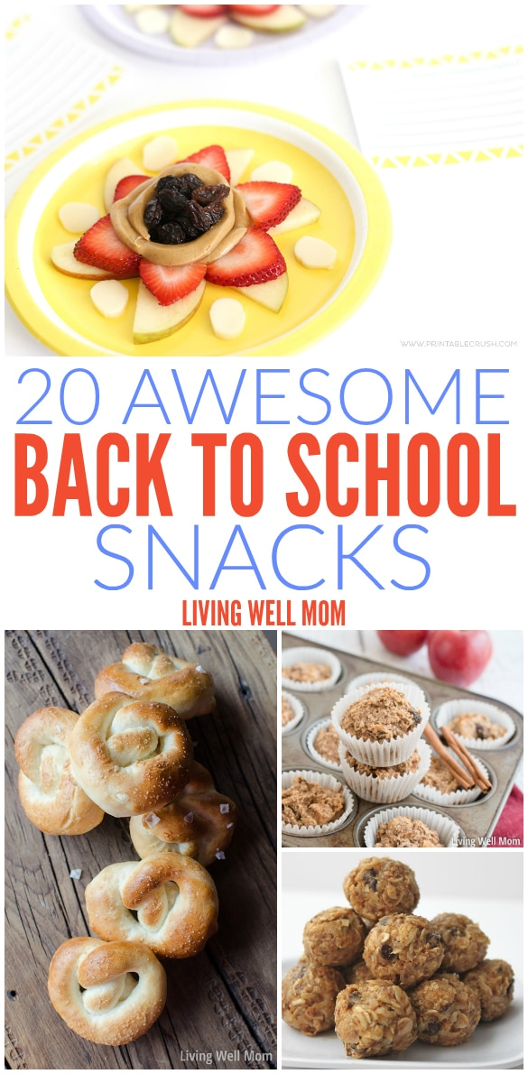 From gluten-free muffins to homemade hot pockets, here's a list of 20 awesome back to school snacks your kids (and you) will love!