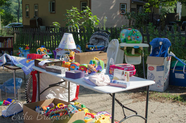 My First Yard Sale - Living Well Mom