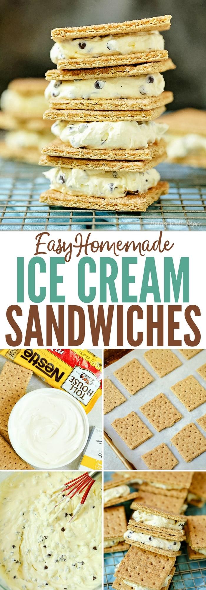 homemade graham cracker ice cream sandwiches recipe