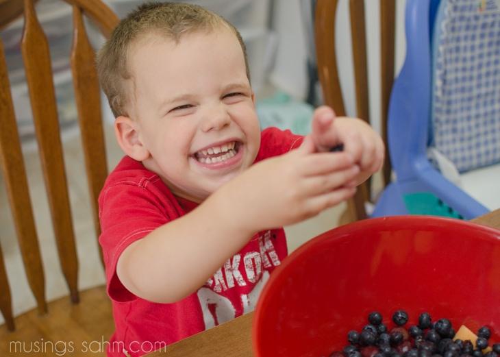 Joshua with fruit