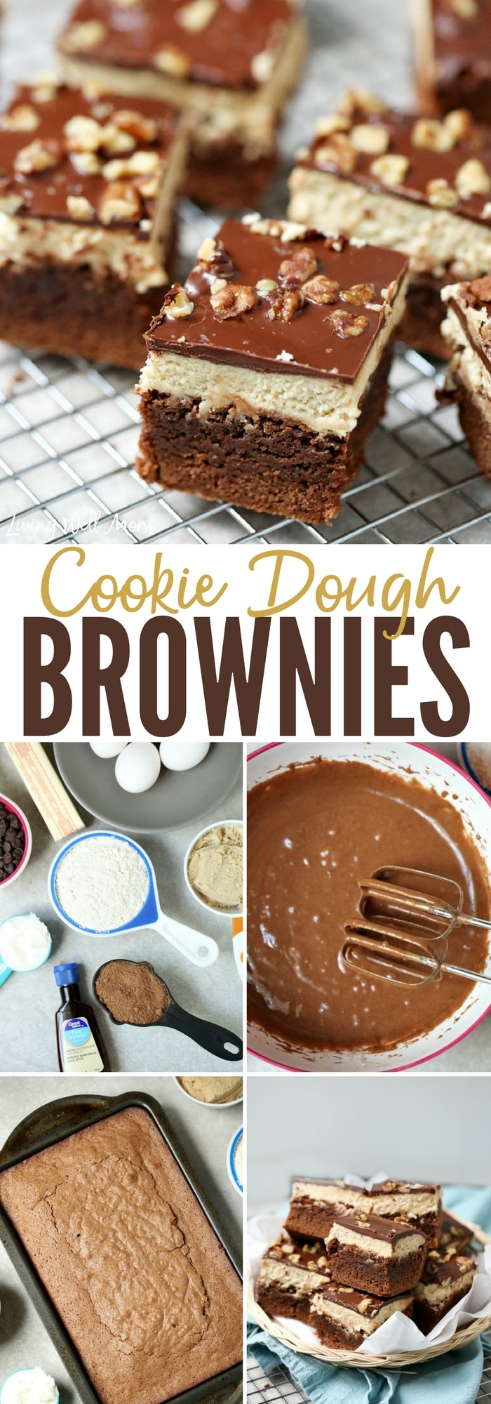 Yummy Cookie Dough Brownies