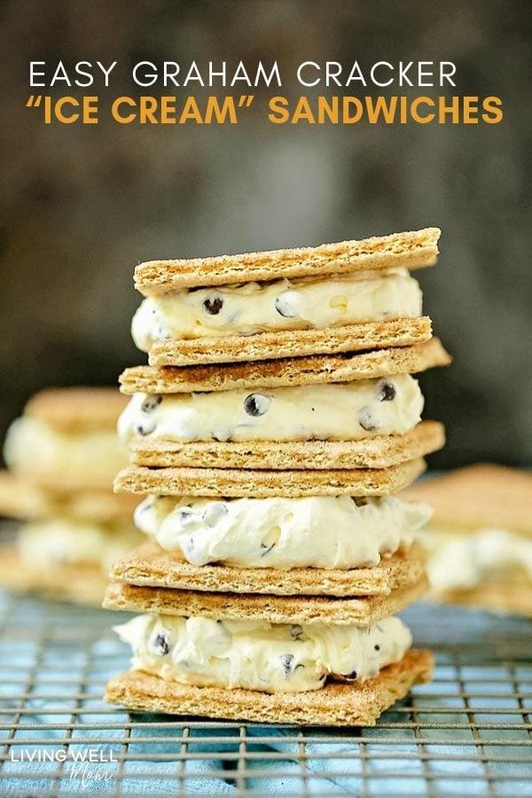 easy graham cracker ice cream sandwiches