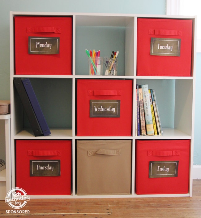 Kids Activities Blog | Simple Back to School Organization