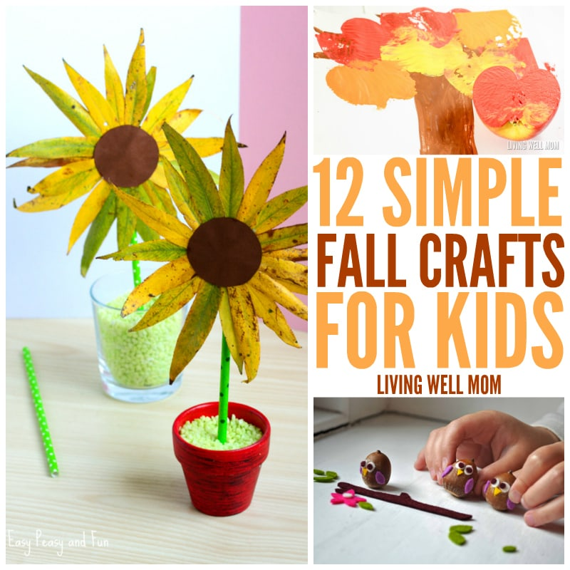 autumn kids crafts 12 simple fall crafts will and 10067