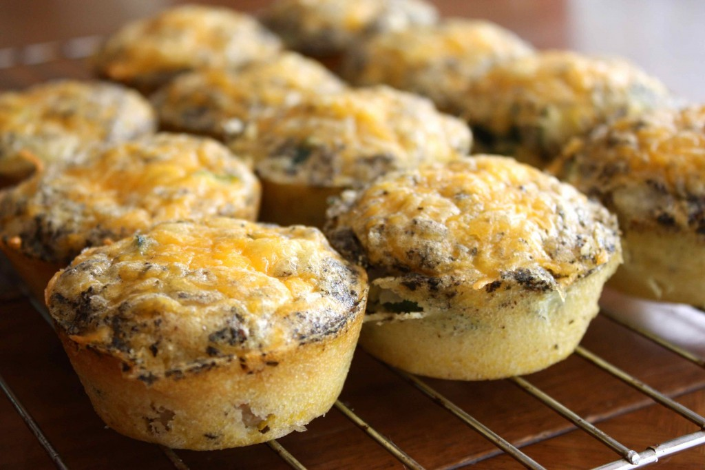Zucchini and Sausage Mini Quiches