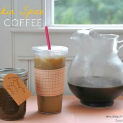 Pumpkin Spice Iced Coffee with Homemade Pumpkin Spice Syrup
