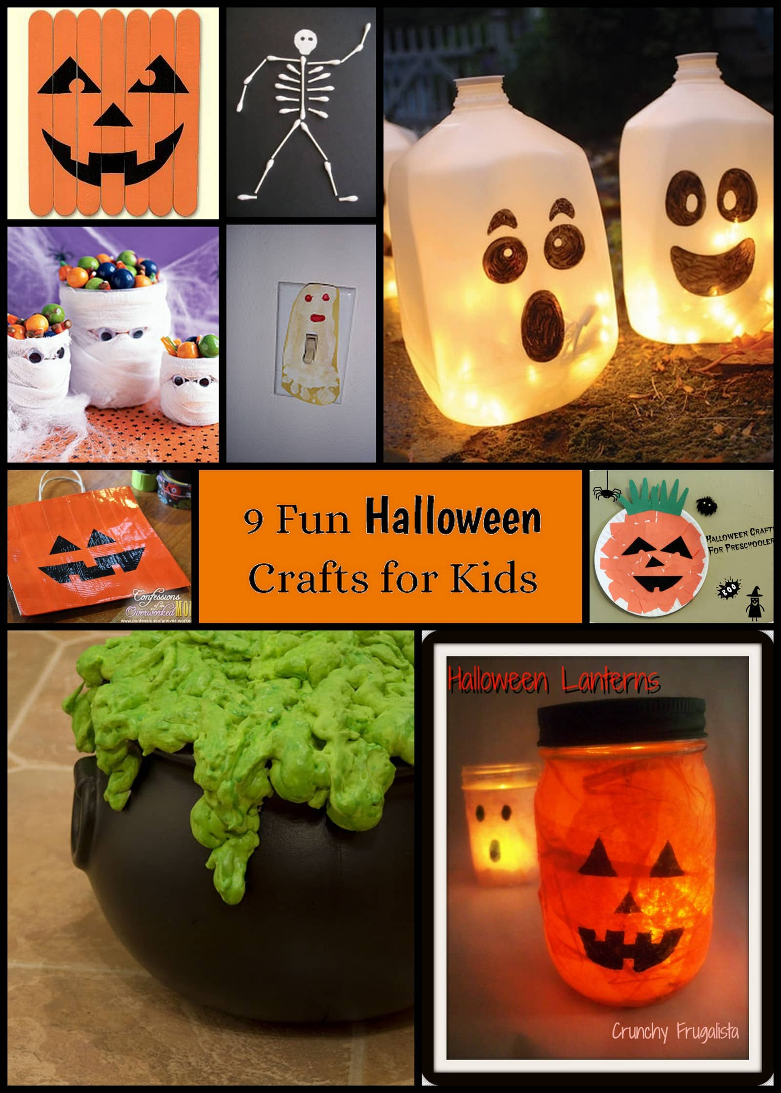 9 halloween crafts for kids living well mom for How to make homemade halloween crafts